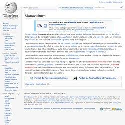 WIKIPEDIA – Monoculture.