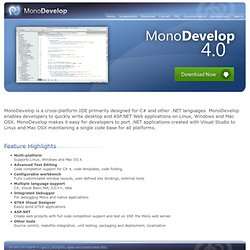 Main Page - MonoDevelop