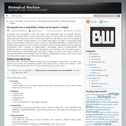 Monografia com o OpenOffice: Estilos de Parágrafo e Página « Biological Warfare
