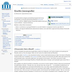 Eraclito (monografia) - Wikiversità - Severino
