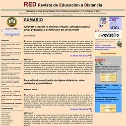 RED Monográfico número II Enero 2005