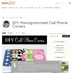 Monogrammed Cell Phone Covers