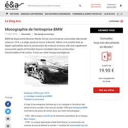Monographie de l'entreprise BMW : chiffres, stratégie marketing...