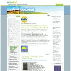 napelem ár,legolcsóbb monokristályos napelem árak, napelem ár - napelem - szélgenerátor - vízturbina - áramtermelés - vákumcső - napkolektor - síkkollektor - vízmelegítés - fűtés hőszivattyúval - faelgázosító kazán