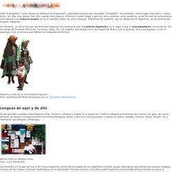 La Argentina: ¿país monolingüe o multilingüe?