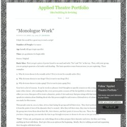 Applied Theatre Portfolio