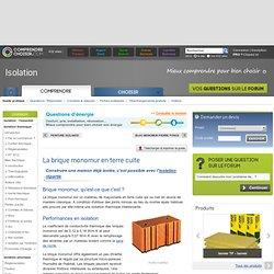 Brique monomur : la construction en briques monomur en terre cuite