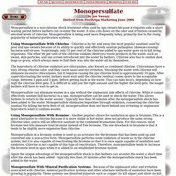 Monopersulfate aka mps / non-chlorine shock