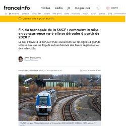 Fin du monopole de la SNCF : comment la mise en concurrence va-t-elle se dérouler à partir de 2020 ?