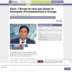 Fibre : l'Arcep ne veut pas laisser le monopole d'investissement à Orange
