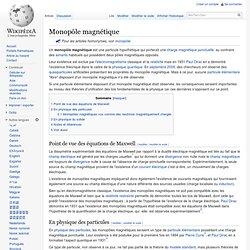 Monopôle magnétique