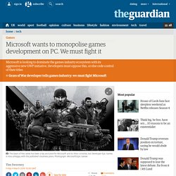 Microsoft wants to monopolise games development on PC. We must fight it