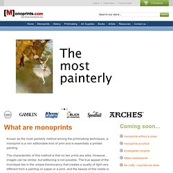 Monoprints and Monotypes