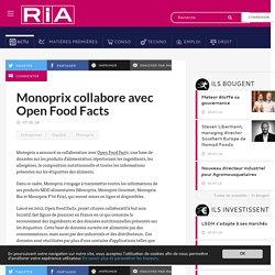 Monoprix collabore avec Open Food Facts