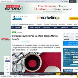 Monoprix ouvre un Pop Up Store dédié à Marion Lesage