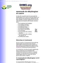 monoxyde de dihydrogène et Cancer