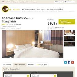 B&B-Hôtel pas cher Lyon Centre Monplaisir : hôtel proche du centre-ville de Lyon, du stade Gerland et d'Eurexpo
