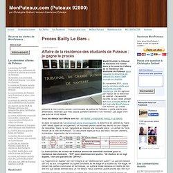 Puteaux 92800) a 10 ans (2002-2012): Proces Bailly Le Bars