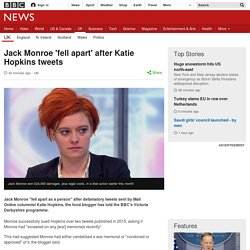 Jack Monroe 'fell apart' after Katie Hopkins tweets