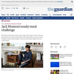 Jack Monroe's ready-meal challenge