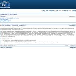 PARLEMENT EUROPEEN - Réponse à question E-006550/2011 Monsanto et le brevet déposé sur les melons