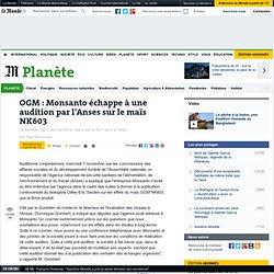 OGM : Monsanto échappe à une audition par l'Anses sur le maïs NK603