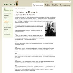Historique Site Monsanto France