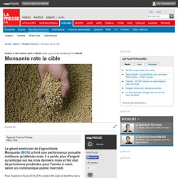 Monsanto rate la cible