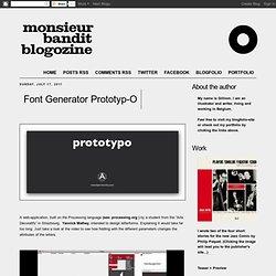 Font Generator Prototyp-O