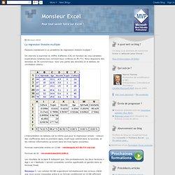 Monsieur Excel - pour tout savoir faire sur Excel !