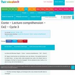 La chèvre de Monsieur Seguin – Conte – Lecture compréhension – Ce2 – Cycle 3