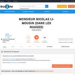 MONSIEUR NICOLAS LIMOUSIN (FIGEAC) Chiffre d'affaires, résultat, bilans sur SOCIETE.COM - 487963233