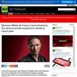 Monsieur Météo de France 2 privé d'antenne. Qui sème le climato-scepticisme récolte la mise à pied — RT en français