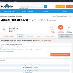MONSIEUR SEBASTIEN BUISSON (ARGIS) Chiffre d'affaires, résultat, bilans sur SOCIETE.COM - 801148560