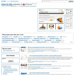 Créer Un Site in France: e-monsite.com, wifeo.com, onlc.fr, salemioche.net @ SmartViper