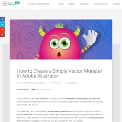 How to Create Simple Vector Monster Character in Adobe Illustrator