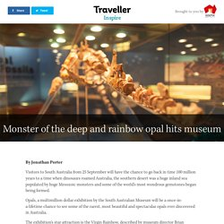Monster of the deep and rainbow opal hits museum