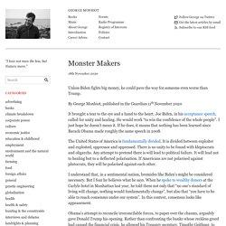Monster Makers – George Monbiot