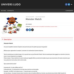 Monster Match – Univers Ludo