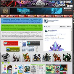 Addicting Monster MMORPG For Free Pokemon Online Games Players