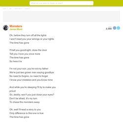 MONSTERS (EN ESPAÑOL) - James Blunt