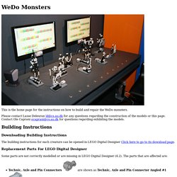 WeDo Monsters - Pictures, building instructions and contact