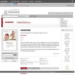 Monstres - CNRS Éditions