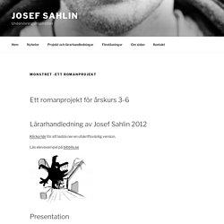 Monstret -ett romanprojekt – Josef Sahlin
