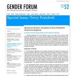 Gender Forum: Monstrous Women: Feminism in Terry Pratchett's Monstrous Regiment