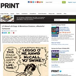 Li'l Abner's Al Capp: A Monstrous Creature, a Masterful Cartoonist