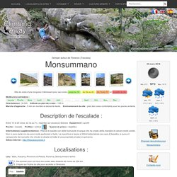 Site d'escalade Monsummano - info, topo, localisation...