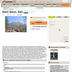 Mont Batur à Bali, nature et balade