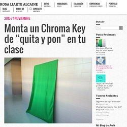 """Monta un Chroma Key de """"quita y pon"""" en tu clase"""