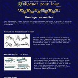 Montage des mailles - Tricot aux aiguilles -Artisanat pour tous